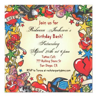 Fabulous Tattoo Party Invitation