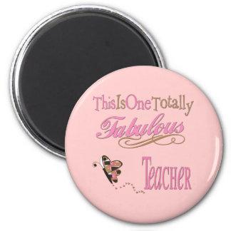 Fabulous Teacher Butterfly Magnet