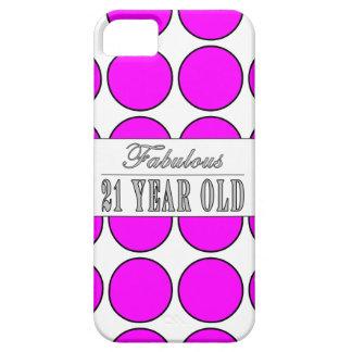 Fabulous Twenty One Year Old Pink Polka Dots iPhone SE/5/5s Case