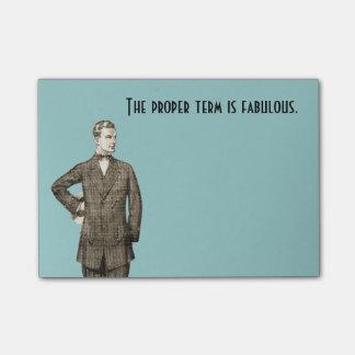Fabulous Vintage Man Post-it® Notes