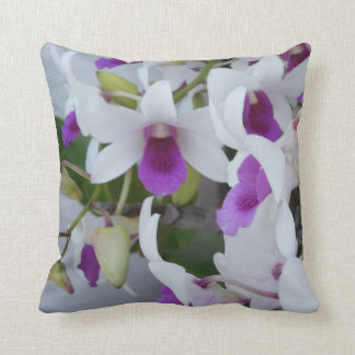FABULOUS VIRGIN ISLANDS ORCHIDS FOR YOUR COMFORT THROW PILLOWS