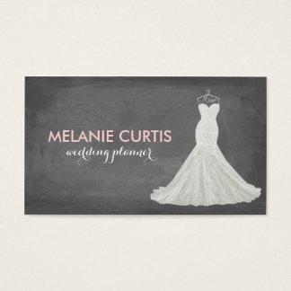 Fabulous Wedding Gown Chalkboard Business Card