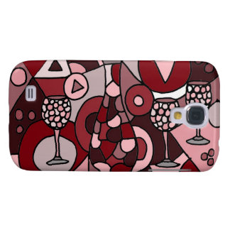 Fabulous Wine Carafe and Glasses Abstract Art Galaxy S4 Case