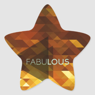 Fabulous with a sparkly,golden,luscious background star sticker