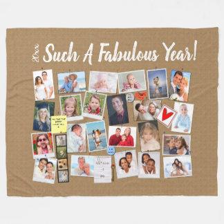 Fabulous Year Make Your Own Photo Cork Board Fleece Blanket