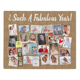 Fabulous Year Make Your Own Photo Cork Board Jigsaw Puzzle
