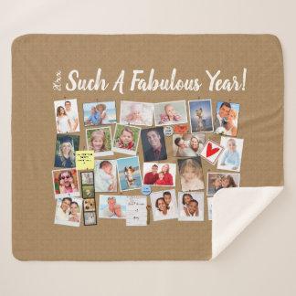 Fabulous Year Make Your Own Photo Cork Board Sherpa Blanket