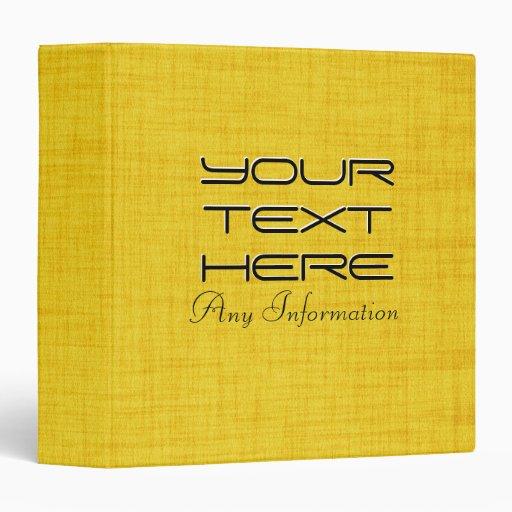 Fabulous Yellow Wood Custom Monogram Binders