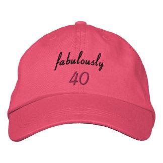 Fabulously 40 Embroidered Baseball Cap