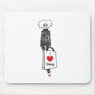 Fabulously Chic Girl Mouse Pad