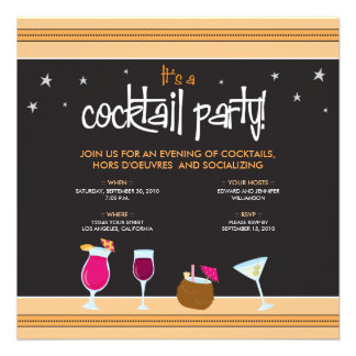 Fabulously Festive Cocktail Party (tangerine) Custom Invite