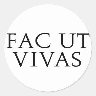 Fac Ut Vivas Stickers