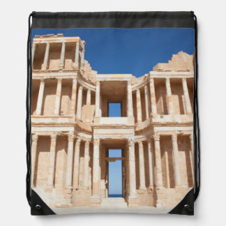 Facade And Stage Of Roman Amphitheater Drawstring Bag
