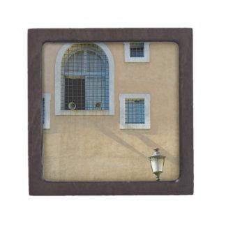 Facade of building in Rome, Italy Keepsake Box