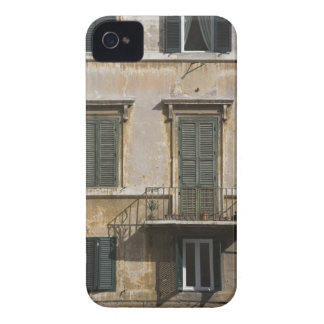 facade of building with a balcony and shuttered iPhone 4 Case-Mate case