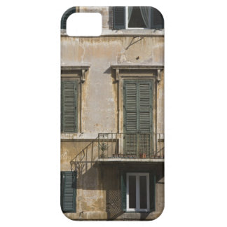 facade of building with a balcony and shuttered iPhone SE/5/5s case