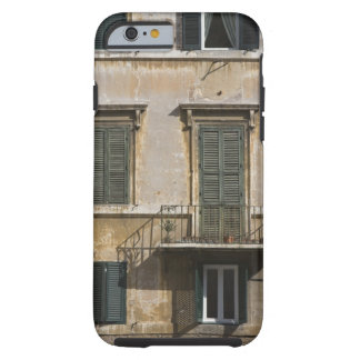 facade of building with a balcony and shuttered tough iPhone 6 case