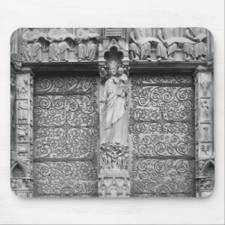 Facade of Notre-Dame, left portal, Paris Mouse Pad