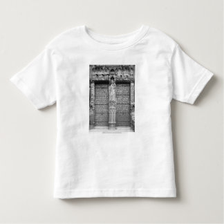 Facade of Notre-Dame, left portal, Paris Toddler T-shirt