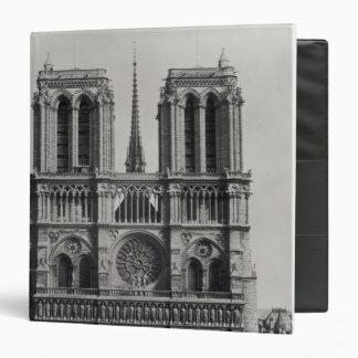 Facade of Notre-Dame, Paris, late 19th century 3 Ring Binder