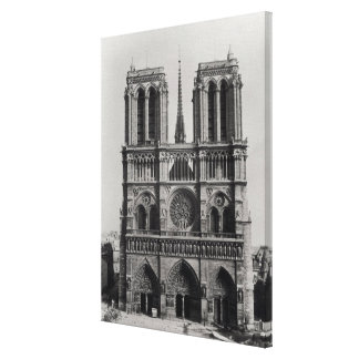 Facade of Notre-Dame, Paris, late 19th century Canvas Print