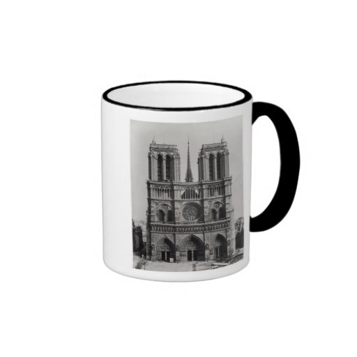 Facade of Notre-Dame, Paris, late 19th century Mug