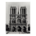 Facade of Notre-Dame, Paris, late 19th century Postcards