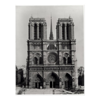 Facade of Notre-Dame, Paris, late 19th century Postcard