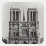 Facade of Notre-Dame, Paris, late 19th century Sticker
