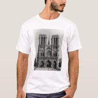 Facade of Notre-Dame, Paris, late 19th century T-Shirt