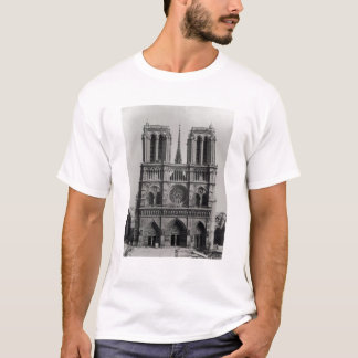 Facade of Notre-Dame, Paris, late 19th century T-Shirt