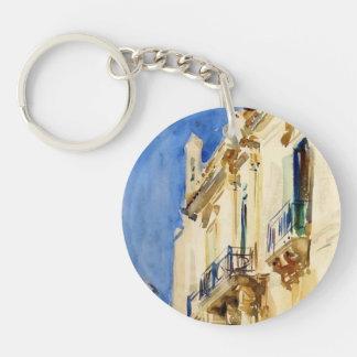 Façade of Palazzo,Girgente,Sicily by John Sargent Acrylic Keychain