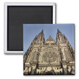Facade of the Cathedral of St. Vitus 2 Inch Square Magnet