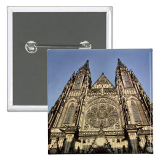 Facade of the Cathedral of St. Vitus Pinback Button
