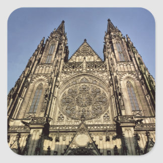Facade of the Cathedral of St. Vitus Square Sticker