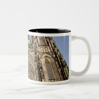 Facade of the Cathedral of St. Vitus Two-Tone Coffee Mug