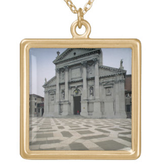 Facade of the church, built 1564-80, facade done i square pendant necklace