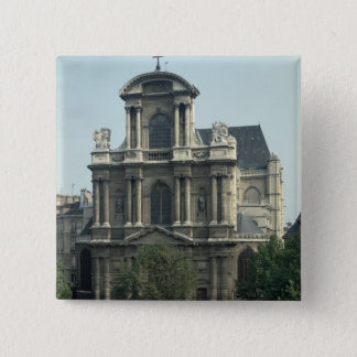 Facade of the Church of Saint-Gervais Pinback Button