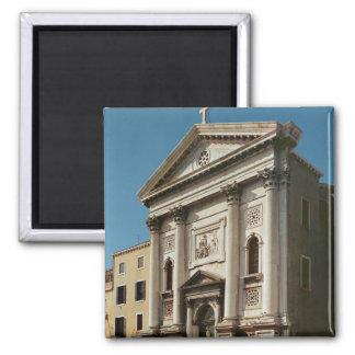 Facade of the Church of Santa Maria della 2 Inch Square Magnet