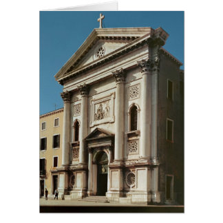 Facade of the Church of Santa Maria della Card