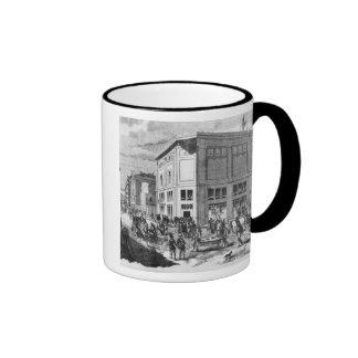 Facade of the Hotel Drouot, Paris, c.1852 (engravi Coffee Mugs
