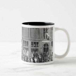 Facade of the Hotel Drouot, Paris, c.1852 (engravi Coffee Mug