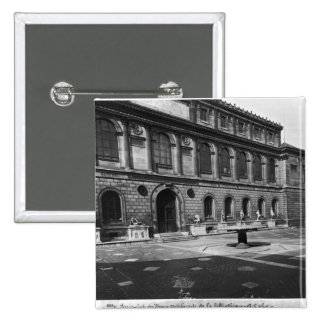 Facade of the library 2 inch square button