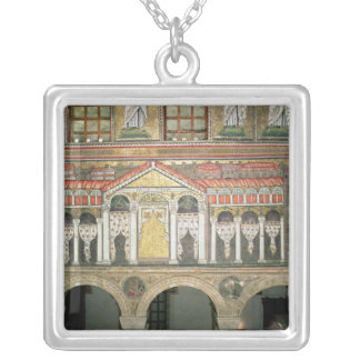 Facade of the Palazzo di Teodorico, 527-99 Silver Plated Necklace