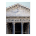 Facade of the Pantheon in Rome, Italy Postcard