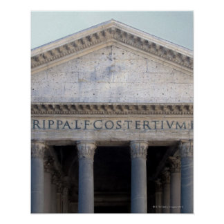 Facade of the Pantheon in Rome, Italy. Poster