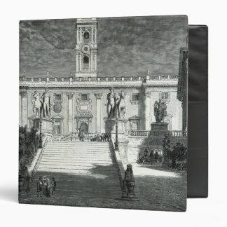 Facade of the Senatorial Palace, Rome 3 Ring Binder