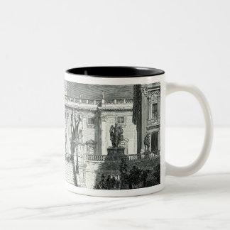 Facade of the Senatorial Palace, Rome Two-Tone Coffee Mug