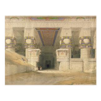 Facade of the Temple of Hathor Postcard