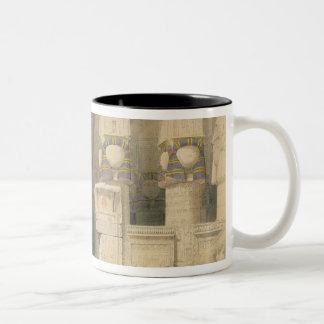 Facade of the Temple of Hathor Two-Tone Coffee Mug